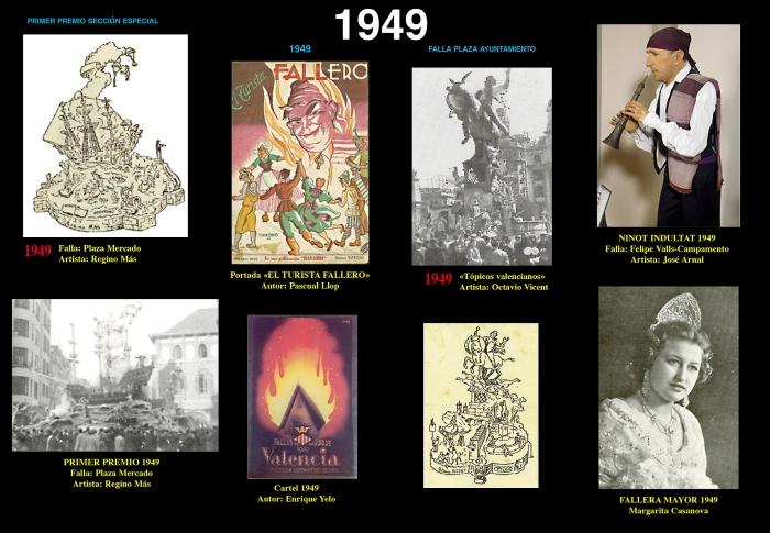 1949 Fichas gráficas Fallas Bayarri.